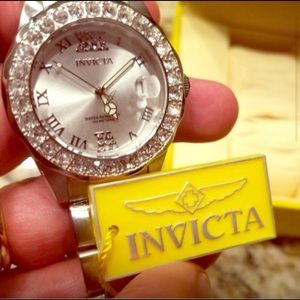 New Silver Women's Invicta Designer Watch